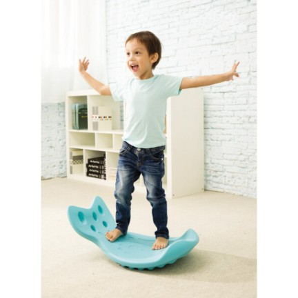 Child on balance board